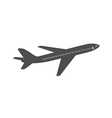Airplane icon flying airplane contour isolated vector image