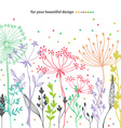 Beautiful color grass silhouette vector image vector image
