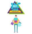 best offer premium placard vector image
