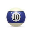 billiard ten ball isolated on a white background