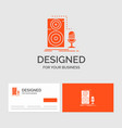 business logo template for live mic microphone vector image