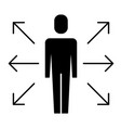 businessman options arrows direction choise vector image vector image
