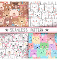 cat bear - cute seamless pattern vector image