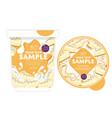 cheesecake yogurt packaging design template vector image vector image
