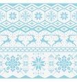 Christmas knitted seamless pattern vector image vector image