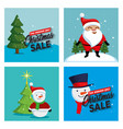 christmas sale labels set icons vector image