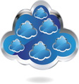 cloud1 resize vector image vector image