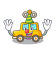 clown clockwork toy car isolated on mascot vector image vector image