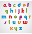 Colorful cartoon smooth font rounded lowercase vector image vector image