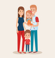 cute family happy characters vector image