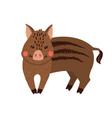 cute hand drawn wild boar isolated on white vector image vector image