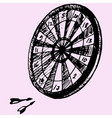 darts and dartboard vector image