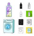 dry cleaning equipment cartoonblackflat vector image vector image