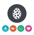 Easter egg sign icon Easter tradition symbol vector image