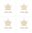 four star shape logo templates vector image vector image