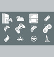 gamepad and game console icons 02 vector image