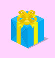 gift box with ribbon isometric vector image vector image