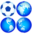Globes and ball vector image vector image