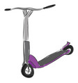 grey and purple scooter on white background vector image