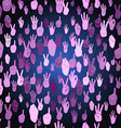 Hand Sign Pattern vector image