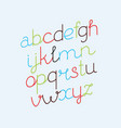 handwritten font collection vector image vector image