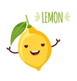 happy cartoon lemon vector image vector image