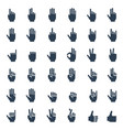 human hand gestures signals and signs body vector image