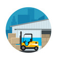icon warehouse services vector image