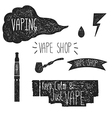 Icons vape Hand graphics vector image