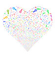 key fireworks heart vector image vector image