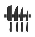 knives set glyph icon vector image
