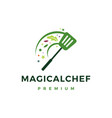 magic chef food logo icon vector image vector image