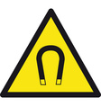 Magnetic Safety Sign vector image vector image