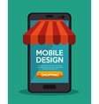 mobile design shopping app online vector image vector image