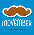 modern movember cancer awareness event card vector image vector image