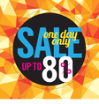 One Day Sale vector image vector image