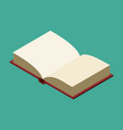 open book isolated opened old volume on white vector image vector image
