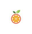 orange logo design icon vector image vector image
