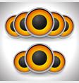 orange loudspeaker speaker vector image vector image