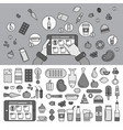 ordering products online line monochrome vector image