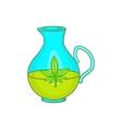 Organic hemp oil icon cartoon style vector image vector image