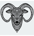 Ornamental head of goat or sheep - a symbol of new vector image vector image
