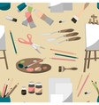 Painter set pattern vector image