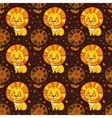 pattern cute little lion vector image vector image