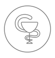 Pharmaceutical medical symbol line icon vector image