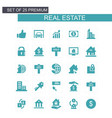 real estate icons set blue vector image
