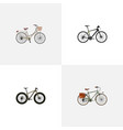 realistic bmx working brand elements vector image vector image