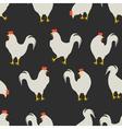 rooster pattern dark grey vector image vector image
