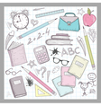 School supplies elements vector image