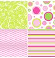 Scrapbook patterns for design vector